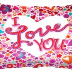 I love You Mosaic Folyo Balon