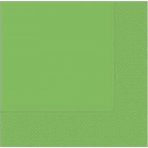 33 cm x 33 cm ebatında yeşil renkte çift katlı kaliteli kağıt peçete. Peçeteler klorsuz ve su bazlıdır. Bir pakette 20 adet mevcuttur.