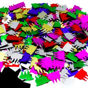 Mumlu pasta şekilli konfeti