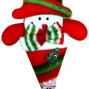 i elyaf dolgulu 10cm yassı kardan adam figürü. Hediyelik ya da yılbaşı ağaç süsü olarak kullanılabilir.