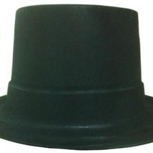 Siyah Silindir kadife baskılı şapka. Yılbaşı partileri