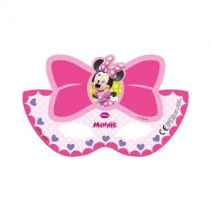 Kağıt ipli parti maskesi. Minnie Mouse temalı partilerinizde misafirlerinize dağıtabilirsiniz.