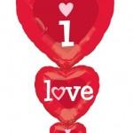 I Love U Katlı Folyo Balon 92cm