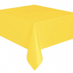 Kullan At sarı renkte plastik masa örtüsü
