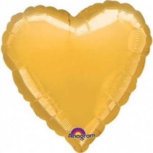 Altın Kalp Folyo Balon 45cm