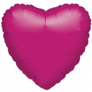 Fuşya Kalp Folyo Balon 45cm