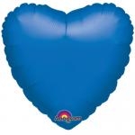 Mavi Kalp Folyo Balon 45cm