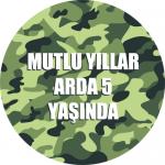 Kamjflaj / Asker partileriniz için 15cm sticker baskı. Düz renkli kullan at kağıt ve plastik parti tabaklarıyla birlikte kullanabilirsiniz.  Fiyata tabak dahil değildir! Bu sticker ları düz renk poşet
