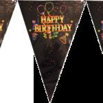 Plastik üzerine baskı bayrak afiş dizisi. Kendinden asma iplidir. Doğum günü partileri için mükemmel bir parti dekorudur. Diğer benzer renkte veya temalı parti malzemeleri ile kombinleyerek kullanabilirsiniz.