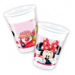 Minnie Mouse temalı partileriniz için 200cc plastik kullan at parti bardağı