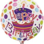 45cm doğumgünü temalı şeffaf balon. helyum gazı ile şişirterek uçan balon haline getirtebilirsiniz. Bilgi için 02123525223