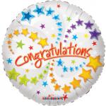 """Congratulations / Tebrikler mesajlı 18""""/ 45cm folyo balon. Doğumgünü"""