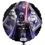 """Star Wars temalı 18""""/ 45cm folyo balon. Şişirilmeden teslim edilir. Helyum gazı doldurtarak uçan balon yaptırtabilirsiniz."""