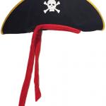 Halloween Cadılar Bayramında hayalet korsan olmak isteyen erkeklere özel parti şapkası