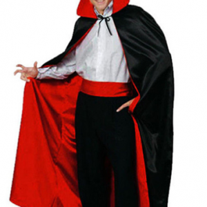 siyah kırmızı pelerin