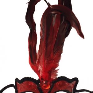 Gerçek kuş tüyü detayli maske. Kendinden saten iplidir.