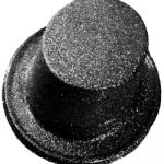Plastik üzerine sim kaplama standart silindir şapka. Yılbaşı şapkanızı yılbaşı maskesi