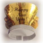 Yumuşak taç üzerinde parlak karton üzerine baskılı parti tacı. Yılbaşı partileri için ideal parti malzemesi. Bu tacı