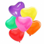 Karışık renkte kalp biçimli latex balon paketi