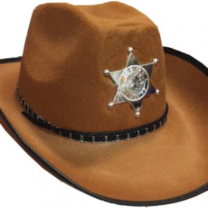 Kaliteli kovboy şapkası. Kovboy kostümlerinin tamamlayıcısı olarak idealdir.