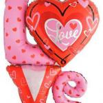 Love Supershape Folyo Balon