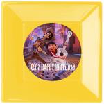 Coco temalı partileriniz için 15cm sticker baskı. Düz renkli kullan at kağıt ve plastik parti tabaklarıyla birlikte kullanabilirsiniz.  Fiyata tabak dahil değildir! Bu sticker ları düz renk poşet