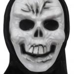 Baş kısmı ince tülden kukuleta şeklinde maske ile bağlı