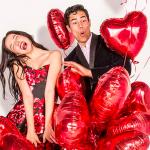 Sevgililer Günü için Kalp Balonlar
