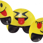 Emoji karakterlerinden farklı stimde parti gözlükleri
