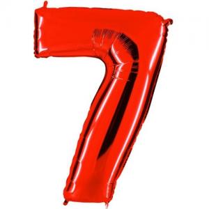 7 rakam folyo balon. Şişirilmeden teslim edilir. Mağazamızda helyum gazı ile uçan balon haline getirtebilirsiniz. Bilgi için: 02123525223