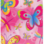 Kelebekler temalı kullan at plastik masa örtüsü