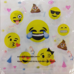 Emoji partisi konseptli 30x30cm kullan at kağıt peçete