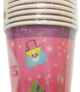 Süslü prenses temalı kullan at kağıt doğumgünü partisi bardağı