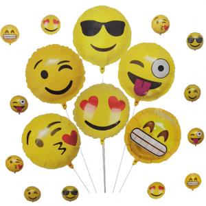 smiley folyo balon seti