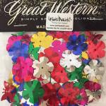 Çiçek kesimli konfeti