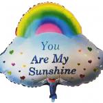 bulut gökkuşağı folyo balon