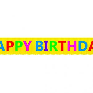 Doğum Günü Partisi Happy Birthday Harf Afiş