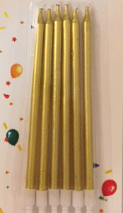 Altın Renkli İnce Mumlar