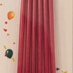 Kırmızı Mumlar 6lı 10,5cm