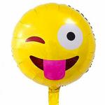 Dil Çıkaran Emoji Folyo Balon