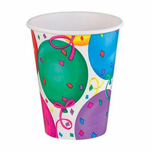Balon Desenli Karton Parti Bardağı