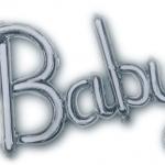 Baby Yazısı Folyo Uçan Balon