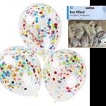 konfeti dolu şeffaf uçan balon