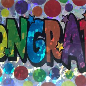 Tebrikler renkli folyo afiş