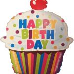 cupcake temalı uçan balon