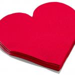 Sevgililer Günü Kalp Kağıt Peçete