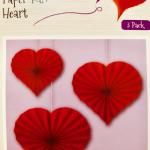 Kalp Yelpaze Asma Süs 3lü