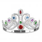 Kraliçe Taşlı Taç Gümüş