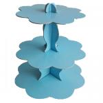 Mavi Cupcake Standı 3 Kat