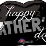 Happy Fathers Day Bıyık Supershape Folyo Balon 78cm